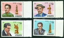 CUBA #2560-3  -  1982 -  RAUL CAPABLANCA - CHESS   -  4V - Chess