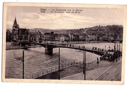 1890 - Liège ( Belgique ) - La Passerelle Sur La Meuse - Fabrication Belge -- - Liège