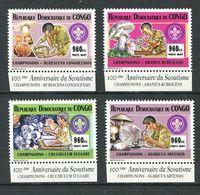 232 CONGO (Kinshasa) 2007 - Yvert 1853/56 - Scout Champignon - Neuf **(MNH) Sans Trace De Charniere - Democratic Republic Of Congo (1997 - ...)