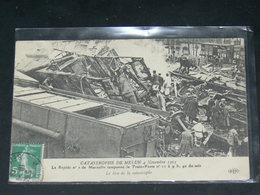 MELUN   1913   ACCIDENT TRAIN POSTAL .....  EDITEUR - Melun