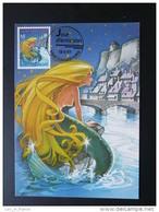 Carte Maximum Card Sirène Mermaid Pont Bridge Europa 1997 Luxembourg Ref 70860 - Cartes Maximum