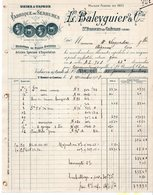 42  SAINT BONNET LE CHATEAU   FABRIQUE DE SERRURES  L BALEYGUIER   FACTURE  1928 - Francia