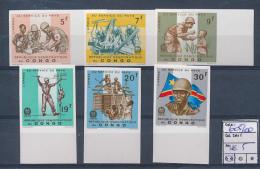CONGO KINSHASA  BOX1 COB 605/10 IMPERFORATED MNH - República Democrática Del Congo (1964-71)