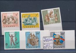 CONGO KINSHASA  BOX1 COB 605/10 IMPERFORATED MNH - République Démocratique Du Congo (1964-71)