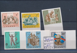 CONGO KINSHASA  BOX1 COB 605/10 IMPERFORATED MNH - Democratic Republic Of Congo (1964-71)