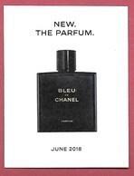 F-New !! Carte à Sprayer CHANEL - Bleu De Chanel -  Perfume Card - USA - Perfume Cards
