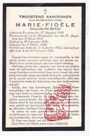 DP EZ Gabrielle De Buck 25j. - Zr. M. Fidèle ° Evergem 1901 † Indië 1926 / Klooster Zrs. Vd Jacht H. Augustinus Heverlee - Devotion Images