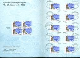 NEDERLAND *  15e ELFSTEDENTOCHT SPECIALE UITGAVE Met STEMPELS Op ZEGELS Van ALLE 11 STEDEN (11.201) - Periode 1980-... (Beatrix)