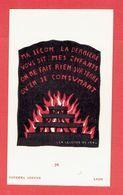 IMAGE RELIGIEUSE SCOUTE 1937 LUCERNA ARDENS A LYON LA LEGENDE DU FEU - Scoutismo