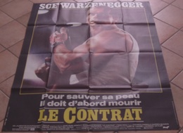 AFFICHE CINEMA ORIGINALE FILM LE CONTRAT Arnold SCHWARZENEGGER Kathryn HARROLD John IRVIN 1986 MASCII - Posters