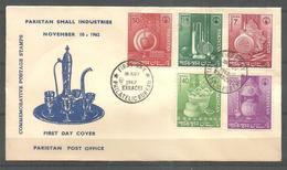 PAKISTAN 1962  FDC SMALL INDUSTRIES - Pakistan