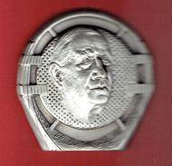 MEDAILLE CHARLES DE GAULLE UNION DES ANCIENS DEPUTES GAULLISTES UADG 1990 MICRO DE LA B.B.C. 18 JUIN 1940 ARCAPEA - Autres