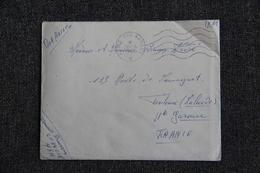 Lettre Postes Aux Armées, Expédiée De BONE Avec Son Contenu En FM Vers TOULOUSE. - Marcophilie (Lettres)