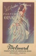 CARTE PARFUMEE  De MOLINARD  Orval 2scans - Cartes Parfumées