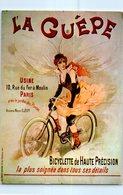 La Guêpe - Bicyclette De Haute Pression - Usine , Rue Du Fer à Moulin PARIS (publicité) - Wielrennen