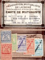 FEDERATION MUTUALISTE DE LA SEINE - CARTE DE MUTUALISTE - Melle ESPRANGHE BERNADETTE à ERMONT - Historische Dokumente