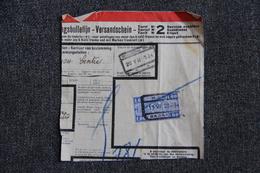 Fragment De Colis Expédié De BOUSSU - Cartas