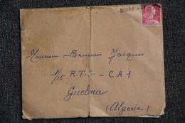 Lettre Et Son Contenu De TOULOUSE Vers GUELMA ( Par Avion) - Guerra D'Algeria