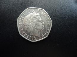 ROYAUME UNI : 50 PENCE  1999   KM 991     SUP+ - 1971-… : Monnaies Décimales