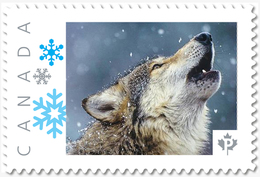 WOLF Howling, LUPO, LOBO, LOUP, Wild, Dog Personalized Postage Stamp MNH Canada 2018 P18-06sn08 - Honden