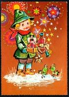 B5022 - Glückwunschkarte - Weihnachten - Engel Nußknacker Sterne - Sonstige