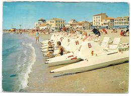 34 - PALAVAS LES FLOTS - Plage Rive Gauche Et Les Pédalos - Ed. Yvon N° EKB 6896 - 1969 - Palavas Les Flots