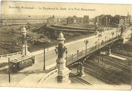 BRUXELLES MOLENBEEK LE BOULEVARD DU JUBILE ET LE PONT MONUMENTAL + PASSAGE D UN TRAM TRAMWAY SUR LE PONT DE LA GARE - St-Jans-Molenbeek - Molenbeek-St-Jean
