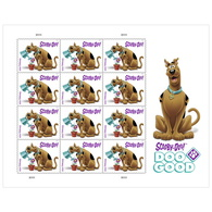 US Stamps 2018. Scooby Doo! Sheet. - Unused Stamps