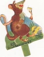 Carton à Système Tirette  BENJAMIN RABIER - Précieuse  -   Publicité  BEL Pourl'album Vache Qui Rit - Chromos