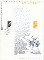 France 2002 Olympic Games Salt Lake City Stamp On First Day Print - Winter 2002: Salt Lake City