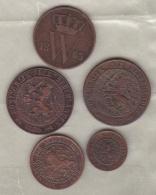 Pays Bas 5 Pièces Willem III - 1849-1890 : Willem III