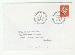 1966 Denmark BALLET FDC Stamps Dance Theatre Cover - Theatre