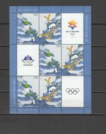 Slovenia 2002 Olympic Games Salt Lake City Sheetlet MNH - Winter 2002: Salt Lake City