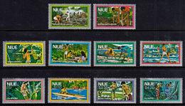 B0294 NIUE 1978, SG 249-58  Niue Life,  MNH - Niue