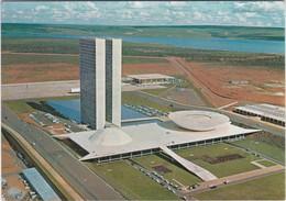 POSTCARD BRAZIL BRASIL - BRASILIA - VISTA AÉREA DO CONGRESSO - VARIG ADVERTISING - Brasilia