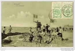 OSTENDE ..-- Une Forteresse . 1908 Vers NOUZON ( Melle Marthe LEPINE ) . Voir Verso . - Oostende