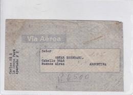 AIRMAIL CIRCULEE PERU TO REP ARG CIRCA 1940's. BANCO INDUSTRIAL STAMPS- BLEUP - Peru