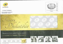 """2018-entier Postal édité Par Phil@poste """"trésors De La Philatélie"""" """"monde 100 G"""" - Postal Stamped Stationery"""