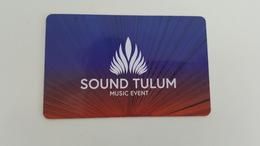 MEXICO - RARE CARD - SOUND TULUM MUSIC EVENT - Unclassified