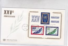 FDC. XXV ANNIVERSAIRE  NATIONS UNIES NACIONES UNIDAS UNITED NATIONS. OBLIT 1970 NEW YORK.- BLEUP - New York -  VN Hauptquartier
