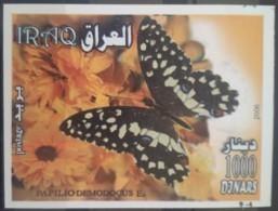 I20- Iraq 2007 Mi.Block 113 S/S MNH - Souvenie Sheet - Butterfly - Irak