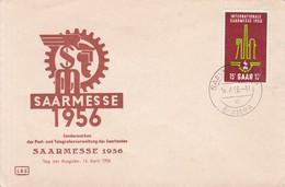 FDC. SAARMESSE 1956 SONDERMARKEN DER POST UND TELEGRAFENVERWALTUNG DES SAARLANDES- BLEUP - FDC