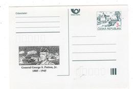 Czech Republic1995 - General  George S.Patton, Jr - Special Postal Stationery, MNH - WW2 (II Guerra Mundial)