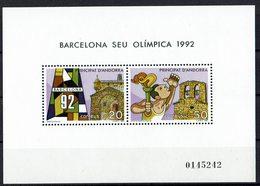 Andorra 1987 // Mi. 195/196 ** Block 2 (024..796) - Spanisch Andorra