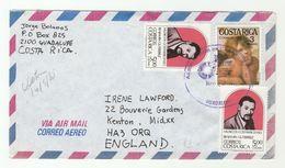Air Mail COSTA RICA COVER Multi BENJAMIN GUITERREZ Music Stamps - Costa Rica