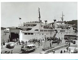 EX. YU. Croatia. The Car Ferry. `Slavija 1`.  Rijeka-Split-Dubrovnik. - Bateaux