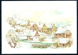 B5053 - H.R. Ulbricht Glückwunschkarte - Winterlandschaft Planet DDR TOP - Weihnachten