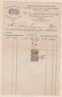 8/104 Lettre Facture BOCQUILLON BEURRE DE FLANDRE LILLE / 1893 - France