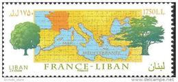 Lebanon 2008 Mi. 1501 MNH Stamp - FRANCE-LEBANON RELATIONS - Joint Issue Between Both Countries - Lebanon
