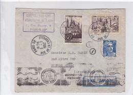 AIRMAIL CIRCULEE FRANCE TO ARGENTINE OBLITERE PARIS 1952. BANDELETA PARLANTE 1RA DISTRIBUCION- BLEUP - Luftpost